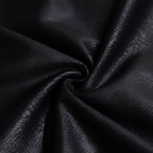 Tissu scuba noir imprimé serpent relief noir