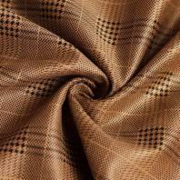 Tissu scuba suédine caramel motif tartan pied de poule