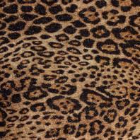 Tissu maille tricot pailleté imprimé léopard fauve
