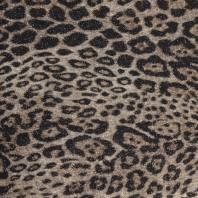 Tissu maille tricot pailleté imprimé léopard cappuccino