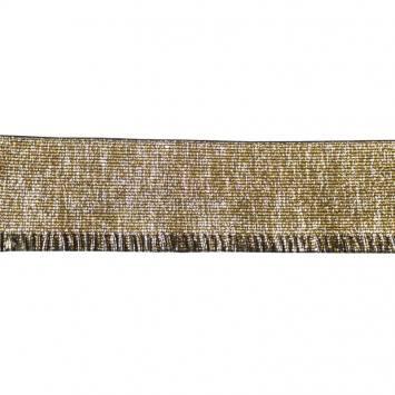 Elastique Bord Cote 60mm lurex doré