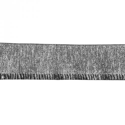 Elastique bord-côte 60mm lurex argenté