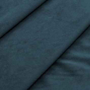 Tissu velours bleu denim