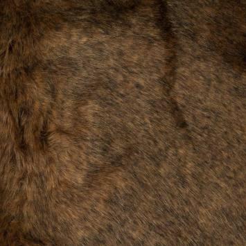 Fausse fourrure marron glacé chinée noire