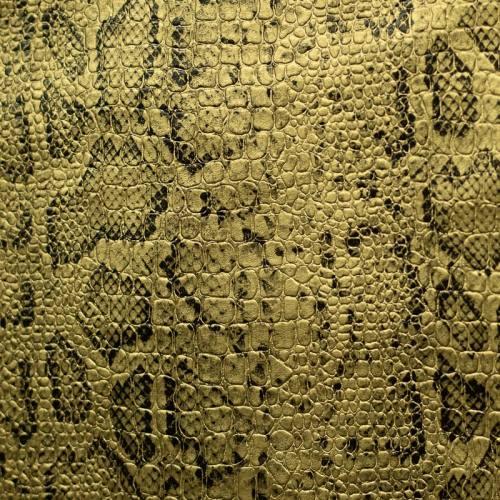 Simili cuir croco motif snake or