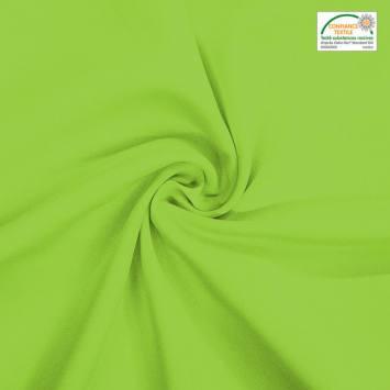 coupon - Coupon 70cm - Burlington infroissable Oeko-tex vert anis