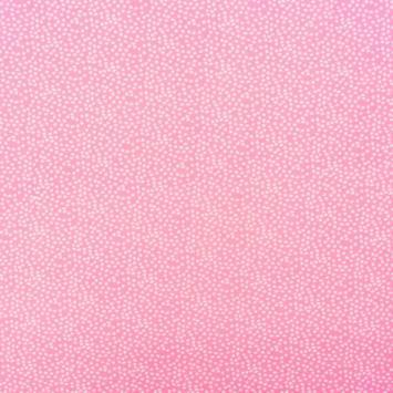 Jersey rose imprimé pois blanc