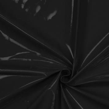 Toile cirée laquée noire