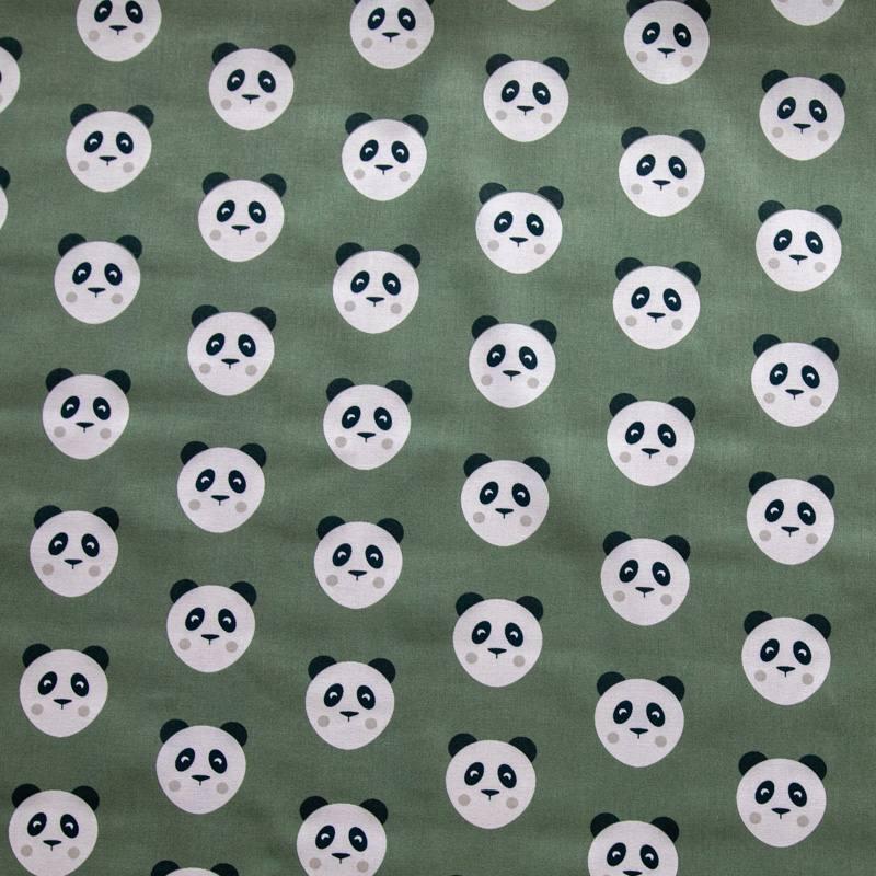 Coton kaki motif panda maotey