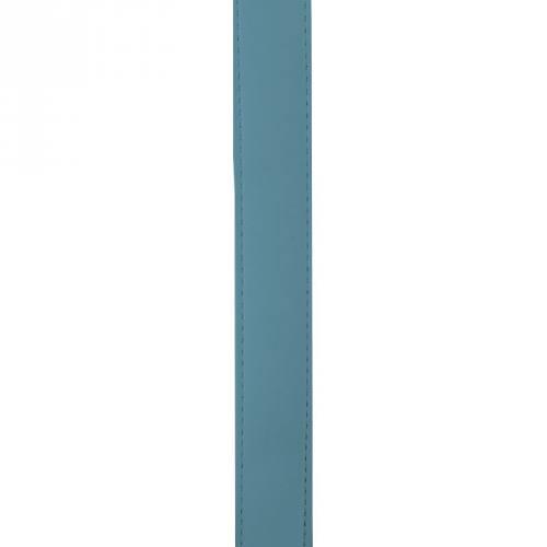 Sangle simili cuir bleu pétrole 30 mm