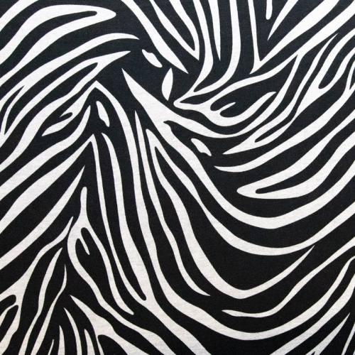 Jersey noir motif zèbre