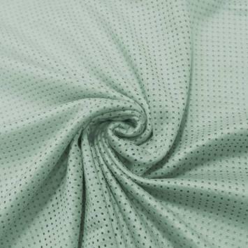 Suédine micro perforée vert menthe