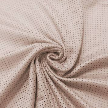Suédine micro perforée rose dragée