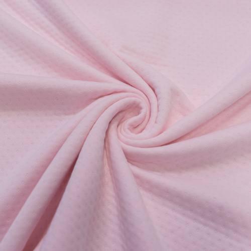 Jersey molleton ajouré rose clair