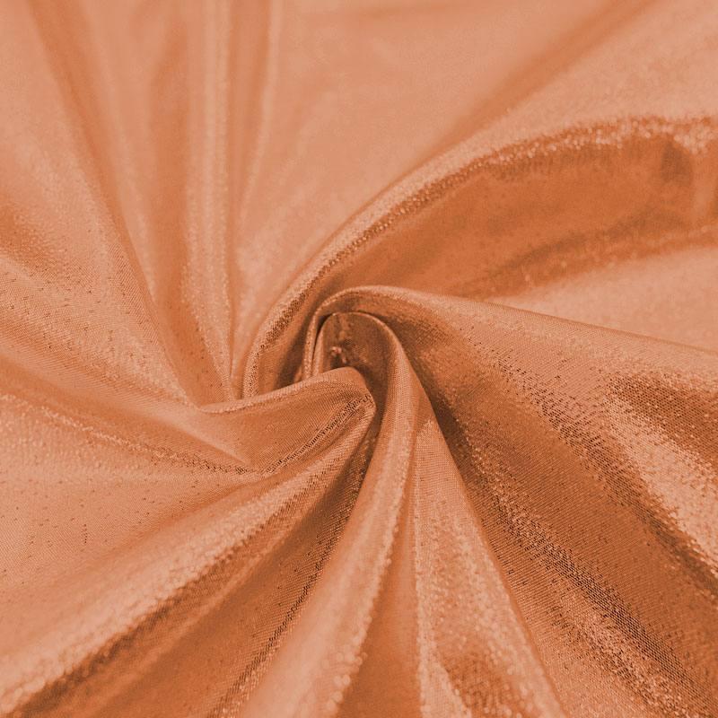 Tissu lamé cuivre