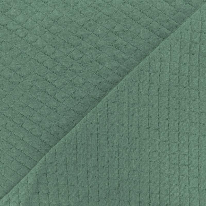 Jersey de coton matelassé vert sauge