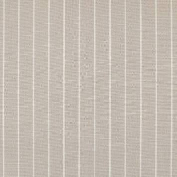 Tissu aspect lin à large rayure lin et écru