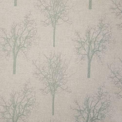 Toile polycoton beige imprimé arbre vert