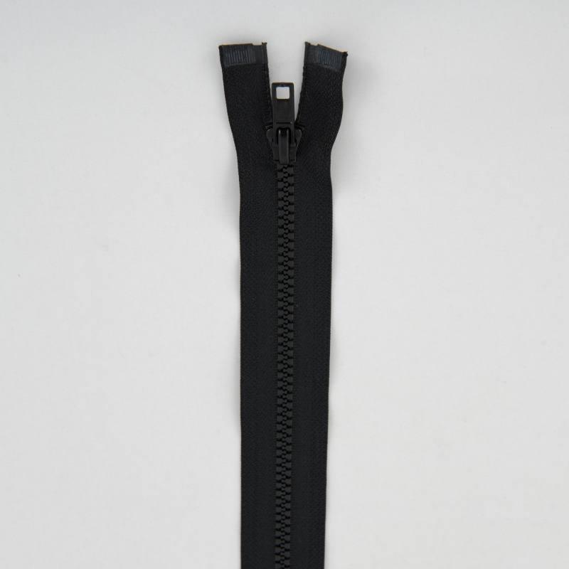 Fermeture injectée noire 40 cm séparable col 580