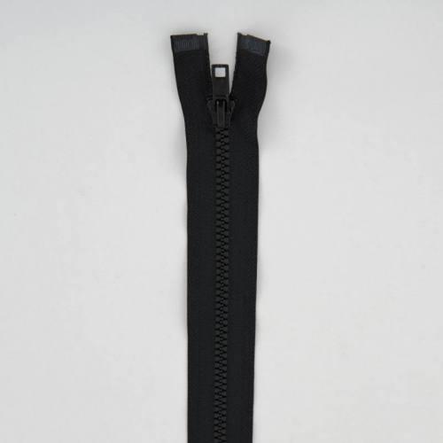 Fermeture injectée noire 75 cm séparable col 580
