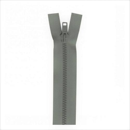 Fermeture injectée grise 60 cm séparable col 243