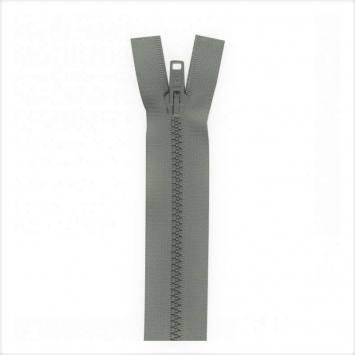 Fermeture injectée grise 75 cm séparable col 243
