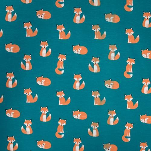 Jersey bleu canard motif renard