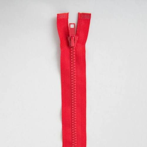 Fermeture injectée rouge 60 cm séparable col 820