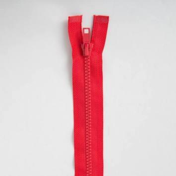Fermeture injectée rouge 80 cm séparable col 820