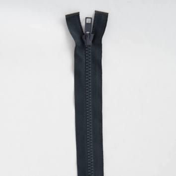 Fermeture injectée bleu foncé 45 cm séparable col 196