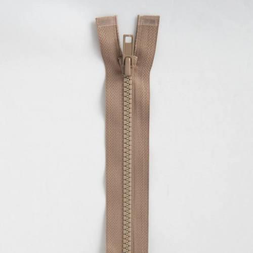 Fermeture injectée beige 75 cm séparable col 894