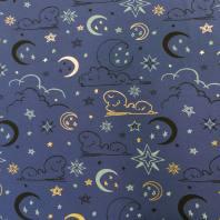 Jersey bleu nuit motif étoiles