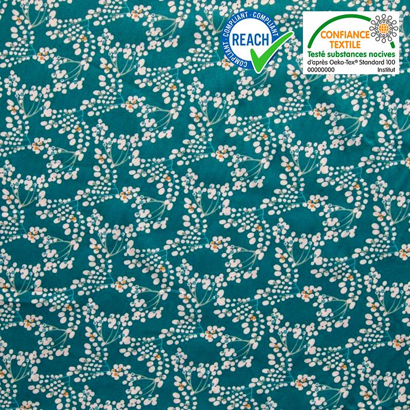 Coton bleu canard motif yoichi