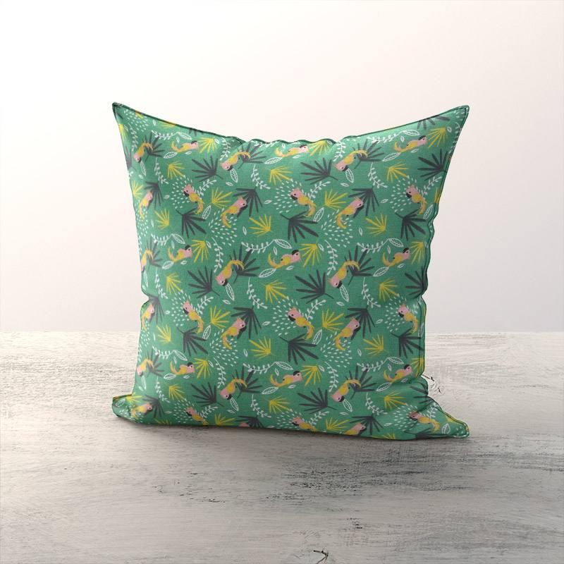 Coton vert motif perroquet