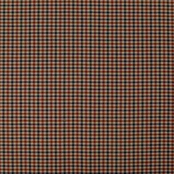 coupon - Coupon 30cm - Tissu à petits carreaux beiges, caramel et noirs