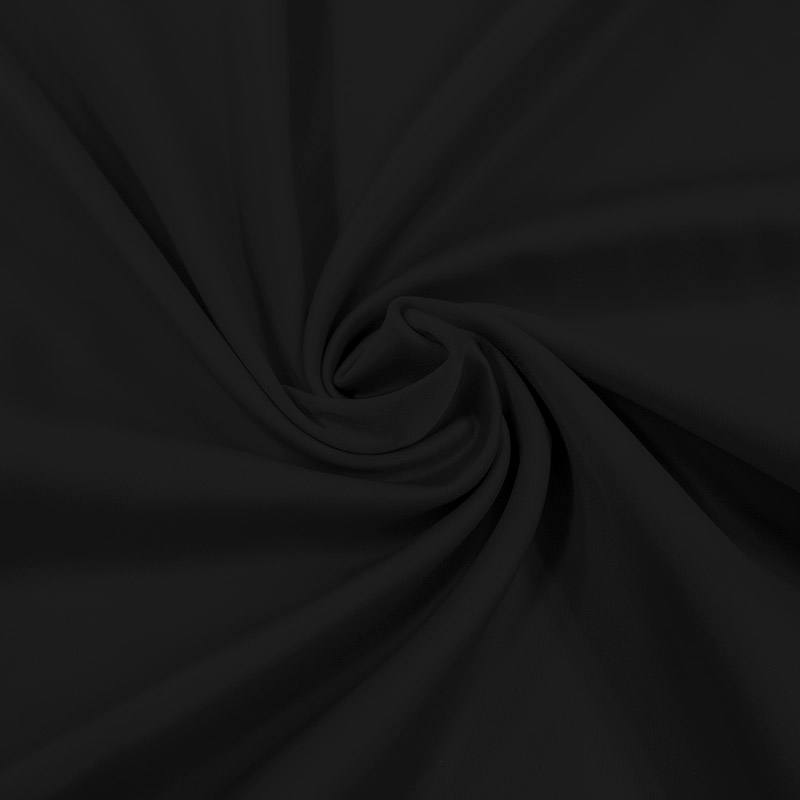 Satin microfibre supérieur extensible noir