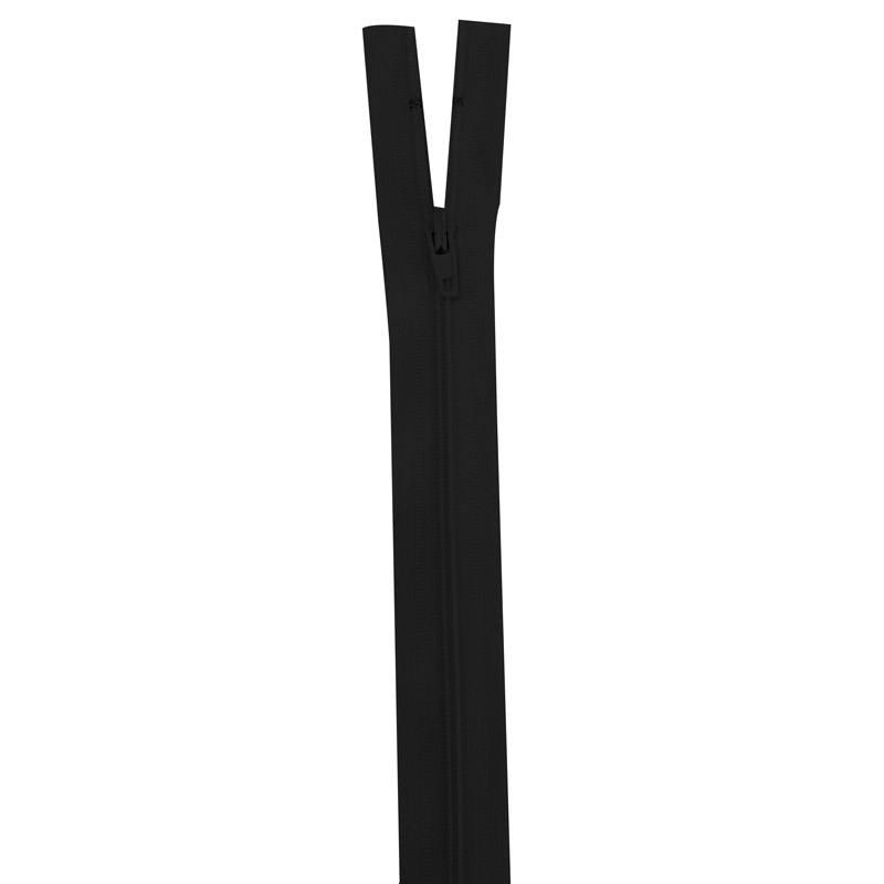 Fermeture en nylon noire 55 cm séparable col 580