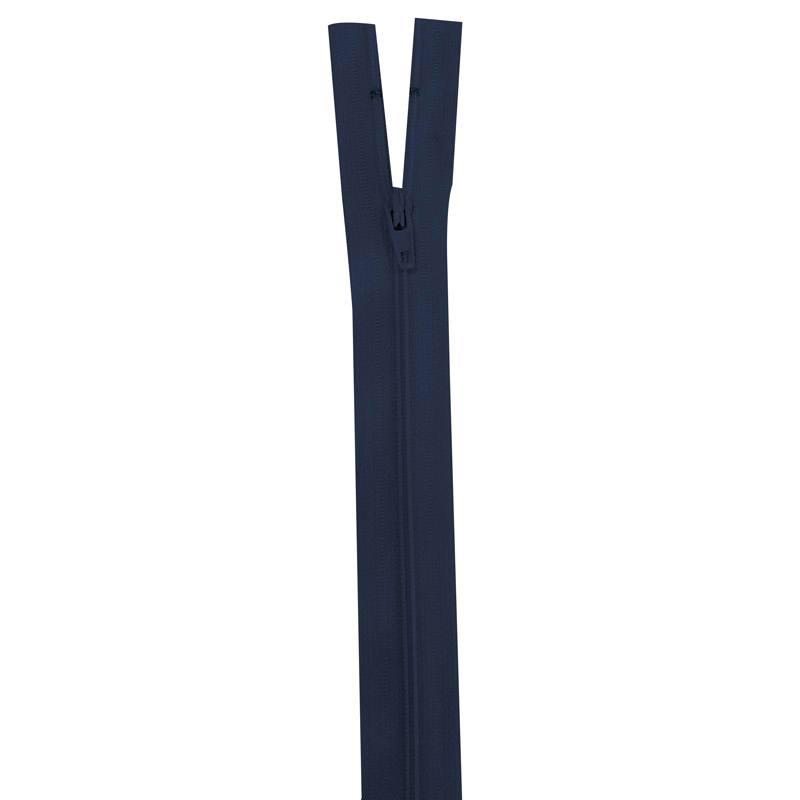 Fermeture en nylon bleu de minuit 35 cm séparable col 196