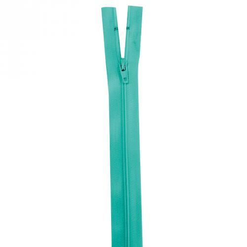 Fermeture vert lagon 35 cm non séparable col 825