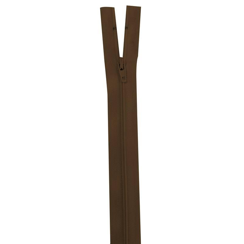 Fermeture marron 15 cm non séparable col 568