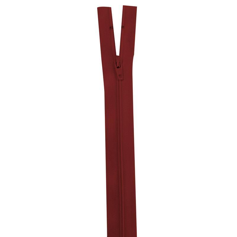 Fermeture rouge lie de vin 25 cm non séparable col 059