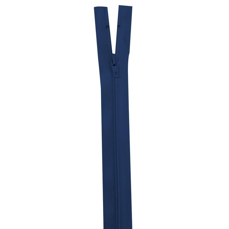 Fermeture bleu marine 45 cm non séparable col 039