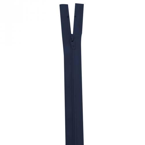 Fermeture bleu marine 35 cm non séparable col 233