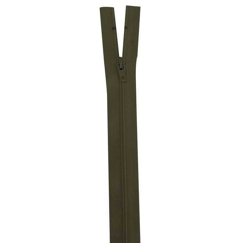 Fermeture vert militaire 18 cm non séparable col 305