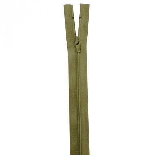 Fermeture vert militaire 35 cm non séparable col 999