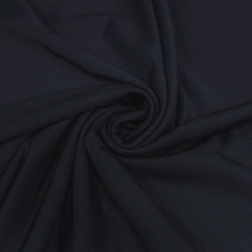 Tissu maille effet lycra bleu nuit