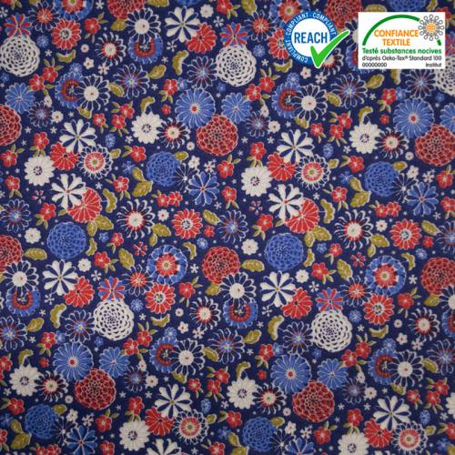 Coton bleu motif misaki