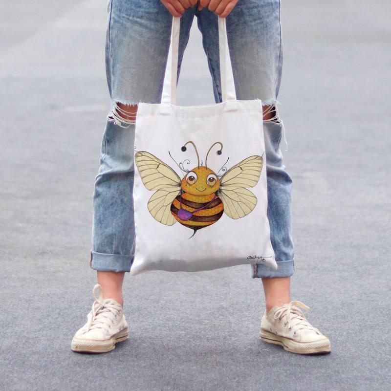 Coupon toile canvas abeille - Audrey Baudo