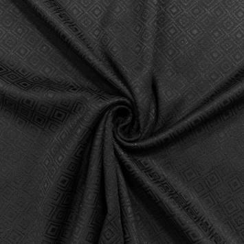 Jacquard noir motif formes géométriques
