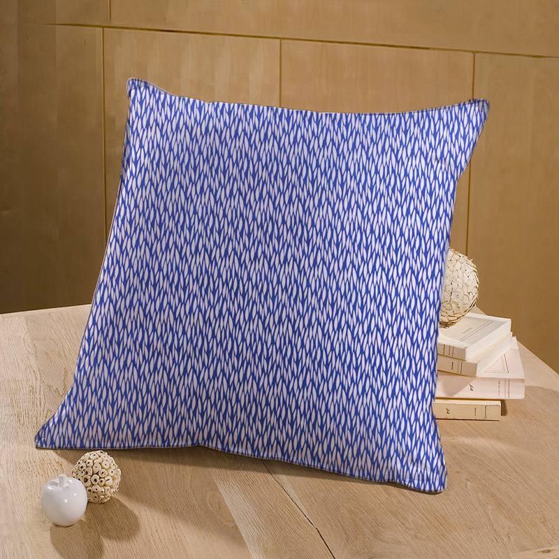 Coton bleu marine motif blé étiré blanc baria